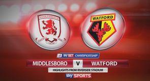 Middlesbrough 1-1 Watford