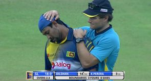 Surprise injury for Dilshan