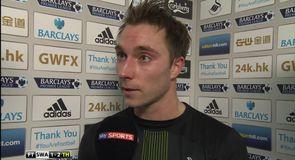 Eriksen admits tough match