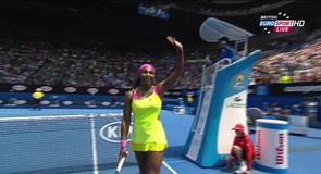 Serena safely through