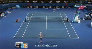 Djokovic through in straight sets