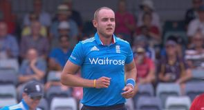 Broad's first Tri-Series wicket