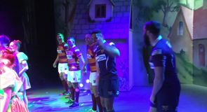 Huddersfield players appear in panto