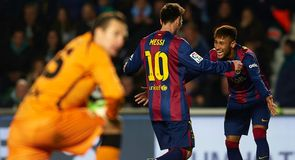 Neymar and Messi combine