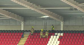 Cardiff stadium damaged by wind