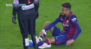 Neymar's nasty injury