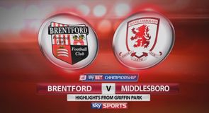 Brentford 0-1 Middlesbrough