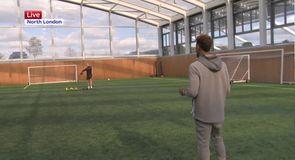 Beckham Jnr's ball skills at Spurs