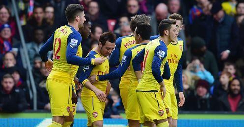 Arsenal beat Palace to go third