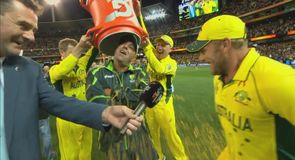 Lehmann gets a soaking!