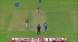 Dramatic finish in IPL