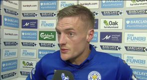 Vardy the hero as Leicester win