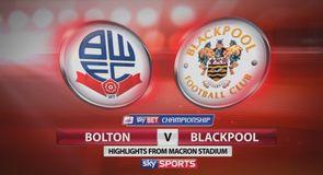 Bolton 1-1 Blackpool