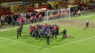 Bristol City celebrate promotion