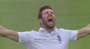 Wood takes first Test wicket