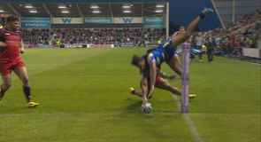 Ormsby's flying hat-trick try