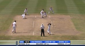 Ballance first to fall on third day