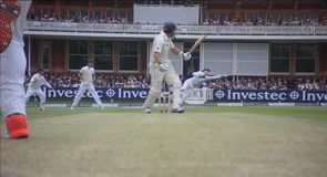 Buttler's flying catch removes Taylor