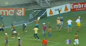 Fans riot at Brazil football match