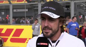 Alonso: It's been challenging