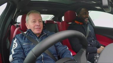 Idris Elba on a snowy Spa circuit