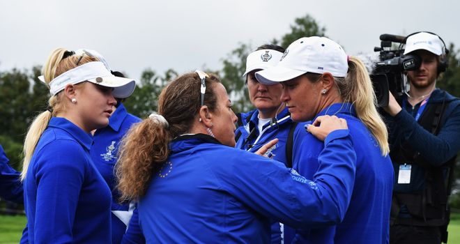 There was controversy at the Solheim Cup when Alison Lee picked up her ball on the 17th green, but the putt had not been conceded