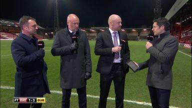 Dyche delighted with first half display