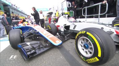 Grosjean & Haryanto collide