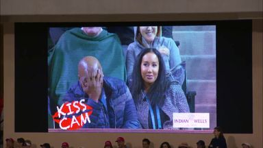 Mike Tyson caught on Kiss Cam!