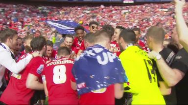 Barnsley celebrate with Will Grigg song