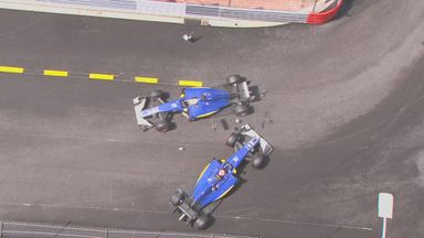 Saubers crash out of Monaco