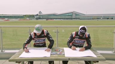 Force India Drawing Challenge - Portraits