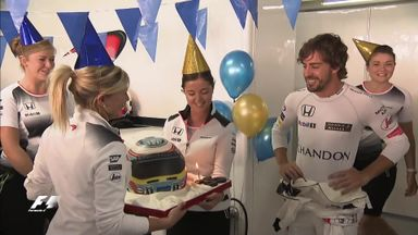Alonso's birthday celebrations