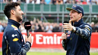 Ricciardo on Verstappen relationship