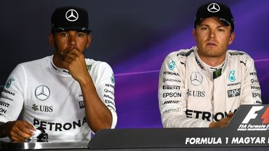 Hamilton & Rosberg's tense exchange