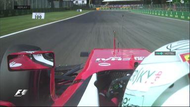 Loss of grip for Vettel
