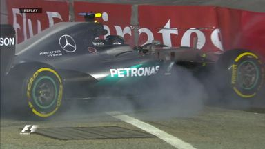 Rosberg crashes in Practice 1