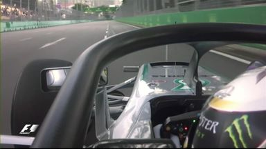 Driver's eye view of the Halo