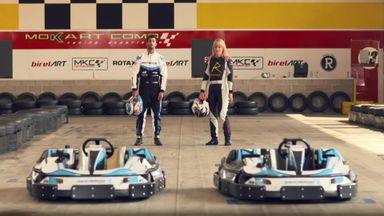 Rachel & Ricciardo go-karting