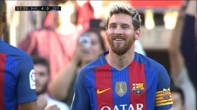 Messi scores 5 minutes into return