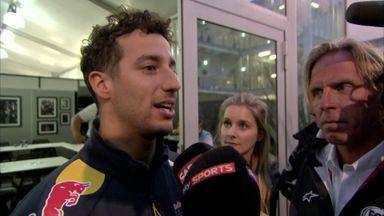 Ricciardo's solo podium celebration