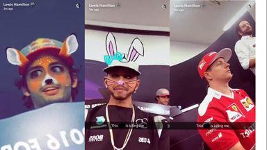 Hamilton's Snapchat antics