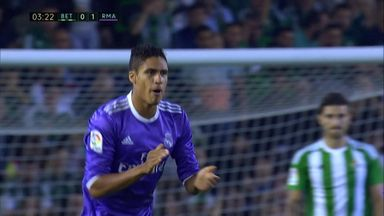 Varane puts Madrid in front