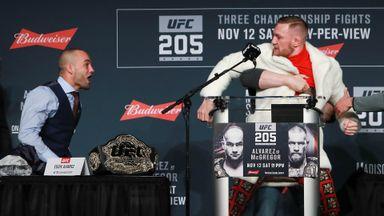 McGregor clashes with Alvarez