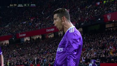 Ronaldo scores after Vitolo antics