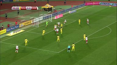 Danish defender misses a sitter
