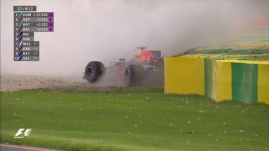 Ricciardo crashes in Q3