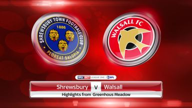Shrewsbury 1-1 Walsall