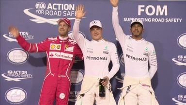 Bottas' first F1 pole position