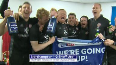 Sheff Utd celebrate promotion